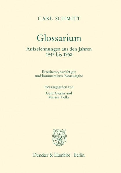 Glossarium . Aufzeichnungen aus den Jahren 1947 bis 1958
