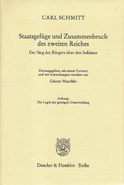 Staatsgefüge und Zusammenbruch des zweiten Reiches