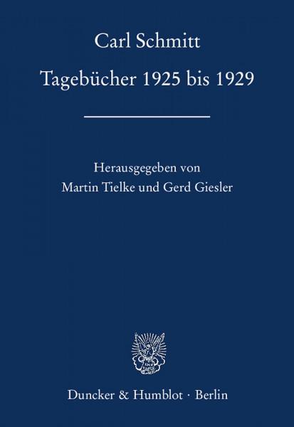 Tagebücher 1925 bis 1929
