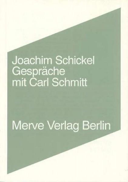 Gespräche mit Carl Schmitt
